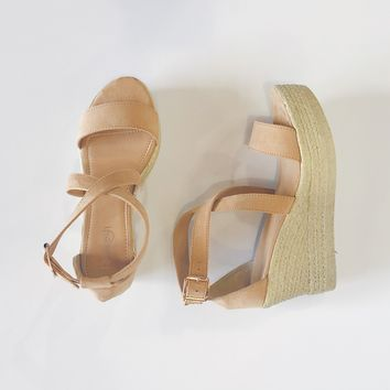 Kendall Open Toe Espadrille Wedge