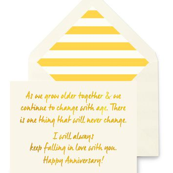 As We Grow Older Anniversary Greeting Card, Single Folded Card or Boxed Set of 8