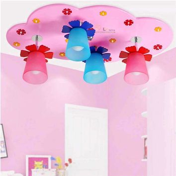lighting bedrooms led chandeliers ceiling kids Acrylic lustre lighting rainbow 110V-220V E27 wood led lamp ceiling light lamp