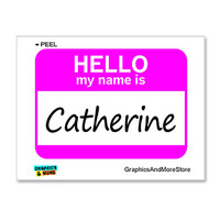 Catherine Hello My Name Is Sticker
