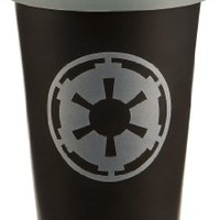 Vandor LLC 99251 Star Wars Double Wall Ceramic Travel Mug with Silicone Lid, 12-Ounce, Black and Gray