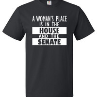 Hillary Clinton Shirt A Woman's Place Is In The House Tee