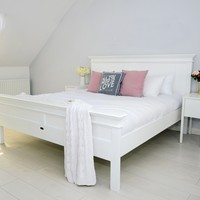 Halifax Bed King-Size White semi-gloss