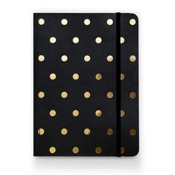 Polka Dot Journal - Black