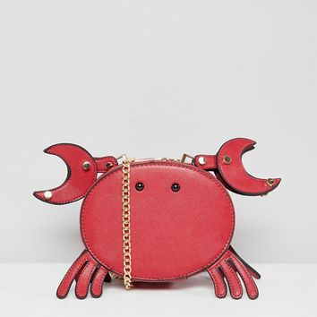 7X Novelty Crab Crossbody Bag at asos.com