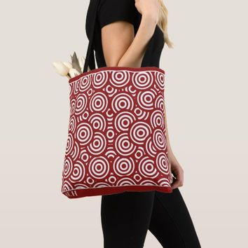 Red Circle Pile Minor Monogram Tote Bag