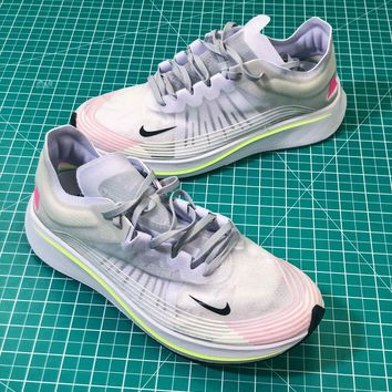 Nike Lab Zoom Fly SP White Sport Running Shoes - Best Online Sale