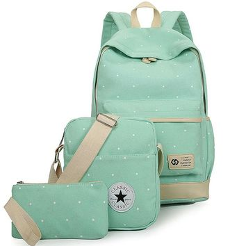 Dotted Pastel Combo Backpack