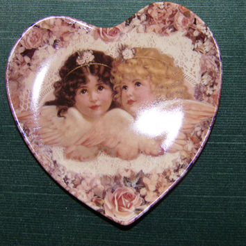 Sweetness and Grace Plate by Thomas L. Cathey from Heavenly Hearts Collection, Heart plate, baby room décor, wall décor