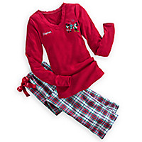 Mickey and Minnie Mouse Pajama Set for Women - Holiday - Personalizable