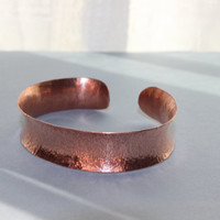 Hammered Copper Cuff Valentine's Day Gift For Her Womens Bracelet
