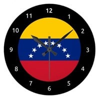 Venezuelan flag Wall Clock