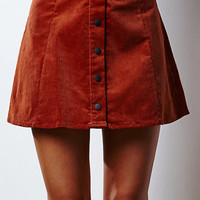Glamorous Corduroy Button-Down Skirt at PacSun.com