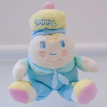 Humpty Dumpty Amscan Baby Soft Crib Toy Nursery Rhymes Velour Plush Blue Egg 10""