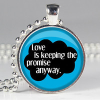 Book Quote Charm - The Fault in Our Stars - John Green