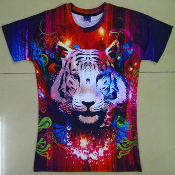 New Fashion Men/Women T-shirt 3d Print Dreamy Tiger Designed Stylish Summer T shirt Brand Tops Tees