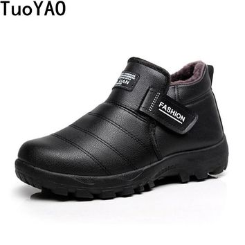 2017 New Arrival Men Winter Boots Keep Warm Plush Ankle Boot Snow Work shoes Lace-up Men Casual Shoes Man Zapatillas