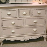 Country cream 6 drawer Chest - Melody Maison
