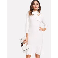Work Of Art Dress - White