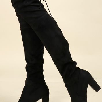Knock Out Heel Boots Black