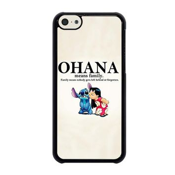 lilo and stitch ohana family disney iphone 5c case cover  number 1