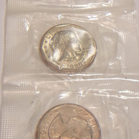 Vintage Susan B Anthony Dollar Coins Uncirculated 1980 Money Collectibles