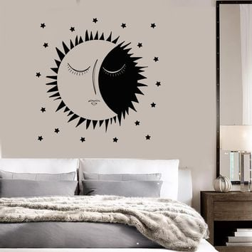 Vinyl Wall Decal Sun Stars Dreams Bedroom Art Decor Stickers Unique Gift (ig3853)