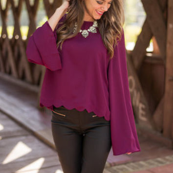 Winner Wonderland Blouse, Wine