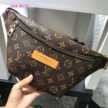 Louis Vuitton x Supreme Women Leather Waist bag Shoulder Bag Crossbody