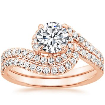14K Rose Gold Venus Diamond Ring (1/3 ct. tw.)