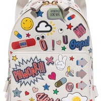 Allover Wink Stickers Backpack