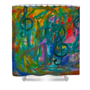 Treble Play Shower Curtain