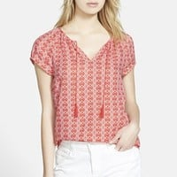 Women's Hinge Textured Short Sleeve Top