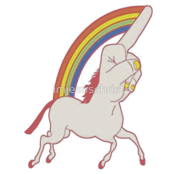 Middle Finger Unicorn  T-Shirts & Hoodies