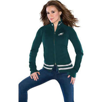 Touch by Alyssa Milano Philadelphia Eagles Ladies Mix Full Zip Jacket - Midnight Green