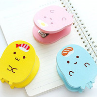 Cute Stapler, Kawaii stapler, School Supplies, Pink stapler, Blue stapler, Yellow stapler, Mini Stapler