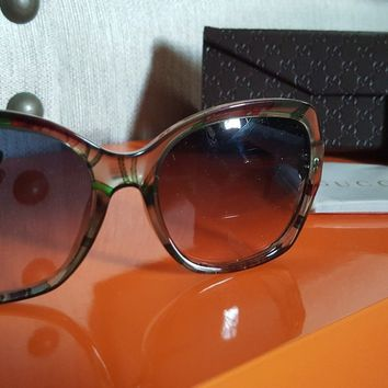 GUCCI GG3803 Oversized 55mm Floral Optyl Sunglasses with Case (NewGenuine)