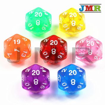 High Quality 1PCS TRPG D20 Dice for Dungeons & Dragons 20 Sided Games Dices 7 Colors Desktop Game Pieces for Dnd,rpg dice
