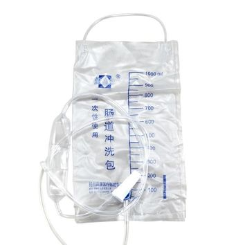 1000ML Disposable Enema Bag Colonic Irrigation Cleansing Kit Medical Supplies (Size: 1 pcs)