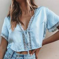 Spring Summer Lace Sexy Bind Cardigan Top