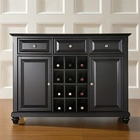Contemporary Dining Room Sideboard Buffet Cabinet in Black