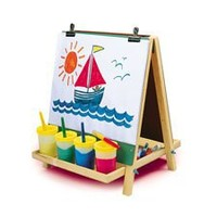 CP Toys Table Top 3-way Easel with Chalkboard, White Board and 2 Clips