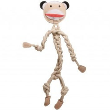 Hugglehounds Rope Knotties Sock Monkey Dog Toy