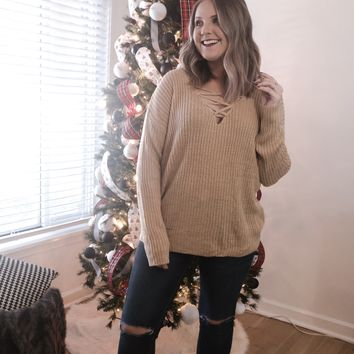 Catalina Crossover Lace Sweater