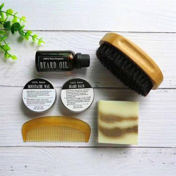 Natural & Organic Beard Oil with Beard Comb Gift Set