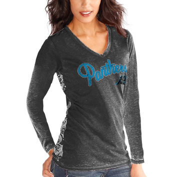 Carolina Panthers Touch by Alyssa Milano Women's Audrey Long Sleeve T-Shirt - Black