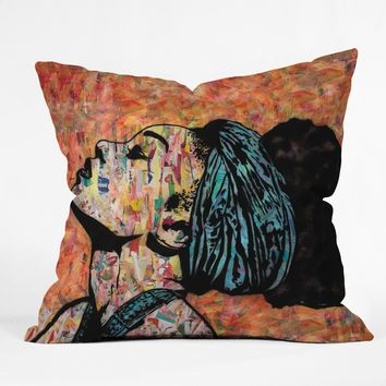 Breathless collage throw pillow