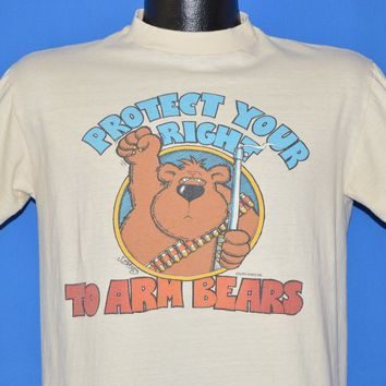 80s Protect Your Right To Arm Bears t-shirt Medium