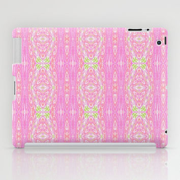 Pretty Pink And Green Abstract  iPad Case by KCavender Designs