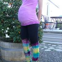 Upcycled Maternity Tie Dyed Leggings